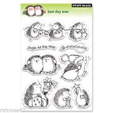 New Penny Black BEST DAY EVER Clear Stamps Critters Christmas Holidays Presents