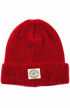 Winter merch - soft knit hat with foldover style and a contrast logo patch