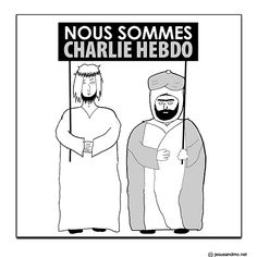 Our weekly comics, Jesus and Mo and Ape Not Monkey, respond to the Charlie Hebdo attacks. We also include images of cartoons published by Charlie Hebdo, in recognition and solidarity. Worst Names, Charlie Hebdo, Great T Shirts, Arts And Entertainment, Political Cartoons, Satire, Comic Strips, Humor, Memes