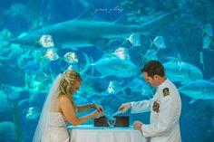 Rhea & Adam's Florida Aquarium Wedding
