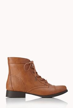 Prairie Chic Lace-Up Booties | FOREVER 21 - 2062102442
