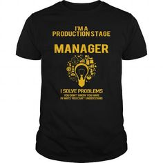 I Love  Production Stage Manager T-Shirt