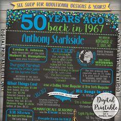 50th Birthday Gift 1967 Poster Sign Flashback by PRINTSbyMAdesign