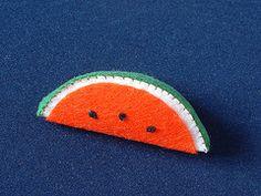 Step by step DIY felt Watermelon slice | fairyfox