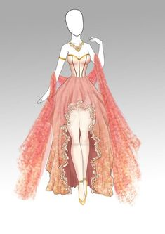 (CLOSED) Adoptable Outfit- 008 by butterjellyfish on DeviantArt – outfits Dress Design Drawing, Dress Design Sketches, Dress Drawing, Fashion Design Drawings, Fashion Sketches, Anime Outfits, Mode Outfits, Fashion Outfits, Kleidung Design