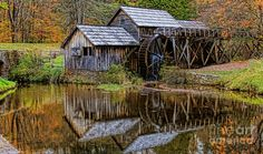 Iconic Mabry Mill Photograph - Mabry Mill by Olahs Photography