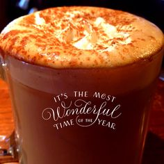 Strange Brew Egg Nog Latte topped with Nutmeg. Our cozy comfy couches in the Brew Loft are waiting for you...