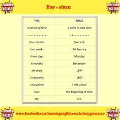 how to use for and since with examples - learning English