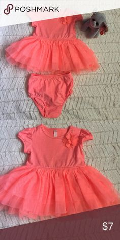 Baby girl dress Beautiful and bright baby girl dress. This dress is brand new.  Never worn. It has been washed. Comes with matching underwear. Dresses