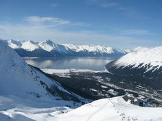 Alyeska Ski Resort - totally have a picture just like this... I was in that spot.. I miss it!