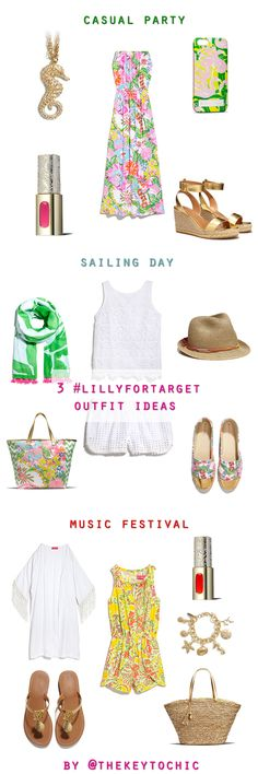 See cute and casual #LillyforTarget outfit ideas from the Lilly Pulitzer for Target lookbook on The Key To Chic
