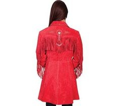 This length boar suede coat features western fringe along the back, front and sleeves. Suede Jacket, Leather Jacket, Western Wear For Women, Western Outfits, Jackets For Women, Cold Shoulder Dress, My Style, Coat, Casual