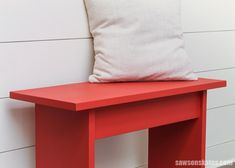 This simple DIY bench could be used in an entryway, in a bedroom, or as a coffee table. #sawsonskates