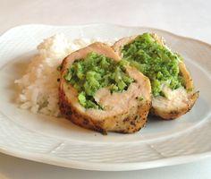 filet z kurczaka faszerowany brokułami