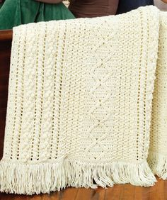 Heirloom Stitches Throw Crochet Pattern | Red Heart, pretty sure I've pinned this, but better safe than sorry...