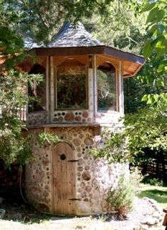 Stone masonry sauna...i think you sit up in the top part and meditate or just hot box