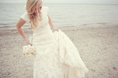 Beautiful, modern, lace-y, and it exists! love everything about this!