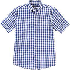Weekend. Modelo: G815D0129C283CA. Camisa con estampado a cuadros, manga corta, con botones en el cuello, bolsa al frente.