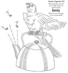 embroidery polly parrot, part 2...   singing with the kettle by floresita's transfers, via Flickr