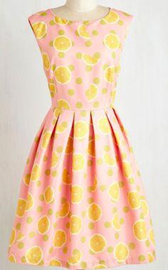 Pink lemonade cocktail dress