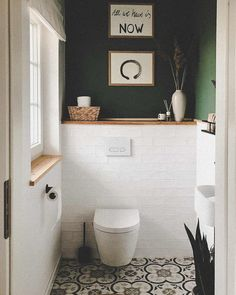 Small Toilet Room, Small Bathroom, Bathroom Inspiration, Bathroom Decor, Small Toilet, Wc Design, Bathroom Interior Design, House Interior, Toilet Design