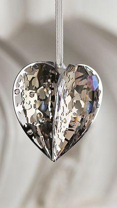 Swarovski Holiday Heart Ornament, Crystal Moonlight 2012