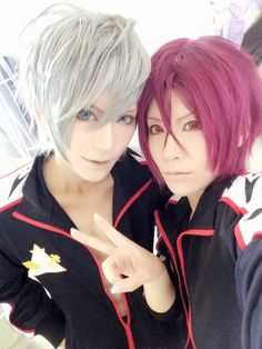 Tama as Rin Matsuoka  of Free!     Ataito as Aiichiro Nitori  of Free!