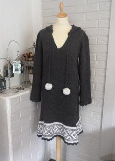 Setesdal dress english pattern by SiSiVeDesign on Etsy Knitting Patterns, Tunic Tops, English, Grey, Outfits, Dresses, Women, Fashion, Tejido