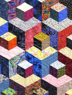 """""""What a great hexagon quilt design! Easy to construct the normal way, but probably with a bit more fabric planning!"""""""