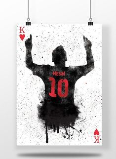Lionel Messi King Of Hearts Silhouette fc Barcelona La Lionel Messi, Messi 10, Fc Barcelona Players, Barcelona Team, Barcelona Football, Messi Poster, Soccer Poster, Madrid Football, Football Art