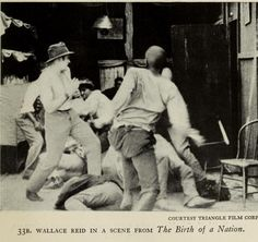 Here we have Wallace Reid in a scene from D.W. Griffiths Birth of A Nation