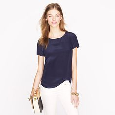 silk short-sleeve blouses are one of the best things ever. want in every color.