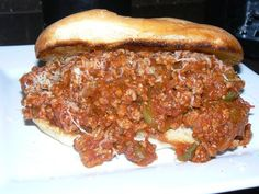 Sloppy Joe's Topped with Shredded Smoked Gruyere Cheese on a Grilled Tolera Roll. | Yelp