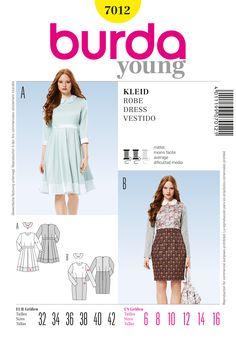 B7012 - http://www.simplicitynewlook.com/burda-patterns/dresses/b7012/#.VBig6--YbIU