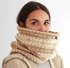 mini Snock® unisex geometric christmas wool knit  cowl by jaffic