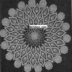 All of us love crochet doilies and more so if they are pineapple crochet doily patterns and that too free, have a look here and start one today Free Crochet Doily Patterns, Crochet Motif, Knitting Patterns, Crochet Circles, Thread Crochet, Filet Crochet, Crochet Home, Diy Crochet, Crochet Dollies