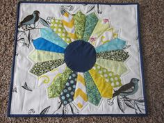 Dresden Plate.  The most fun you can have making a mini quilt.  No template!