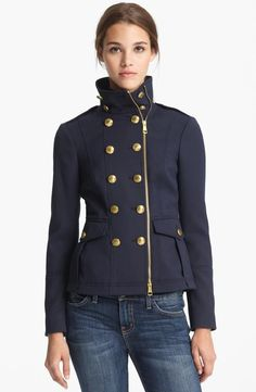 Fall style: Burberry Brit Navy Military Jacket