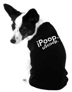 iStyle iPoop uScoop Dog Shirt