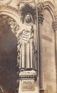 WWI, Metz; The Kaiser chained at the cathedral, postcard
