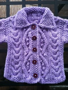 All Things Delightful: Baby Sweater plus Vintage Knitting Tips