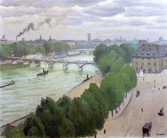 """""""París, Le Pont de l Institut"""", óleo de Albert Marquet (1875-1947, France)"""
