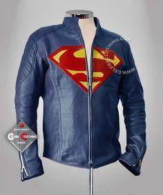 $145.00  Man of Steel Leather Jacket  http://www.celebsclothing.com/products/Man-of-Steel-Leather-Jacket.html  #Manofsteel #Clarkkent #manofsteeljacket