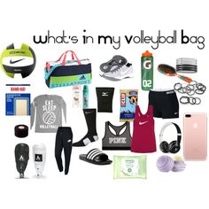 What's In My Volleyball Bag by supermanlover86 on Polyvore featuring polyvore, fashion, style, NIKE, Victoria's Secret, adidas, StellaSport, Beats by Dr. Dre, scunci and Simple
