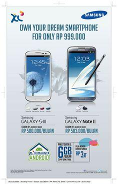Dapatkan promo paket bundling dr XL Pasca Bayar, Samsung Galaxy S3 & Samsung Galaxy Note 2!