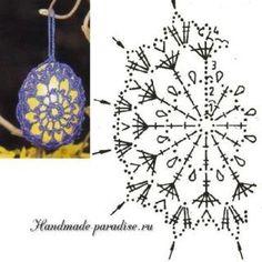 Crochet Edging Patterns, Easter Crochet Patterns, Crochet Bunny, Crochet Chart, Thread Crochet, Crochet Motif, Crochet Doilies, Crochet Christmas Ornaments, Holiday Crochet