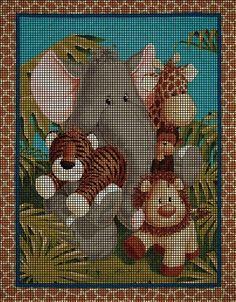 Baby Safari Dreams Crochet Pattern C2c Crochet, Crochet Baby, Crochet Afghans, Crochet Blankets, Graph Crochet, Crochet Stitches Patterns, Baby Patterns, Stitch Patterns, Crochet Giraffe Pattern