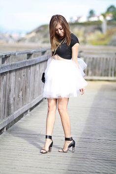 Having a SATC moment with my Space 46 Boutique tulle skirt