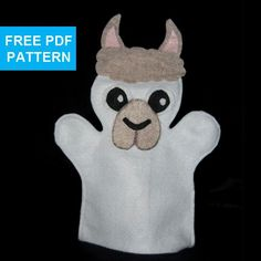 (11) Name: 'Other : Llama Felt Hand Puppet Pattern