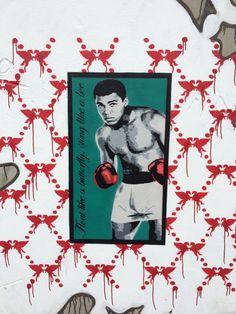 tribute to Muhammad Ali (Turnpike Lane graffiti) Muhammad Ali, London Photos, Graffiti, Polaroid Film, Movies, Movie Posters, Art, 2016 Movies, Craft Art